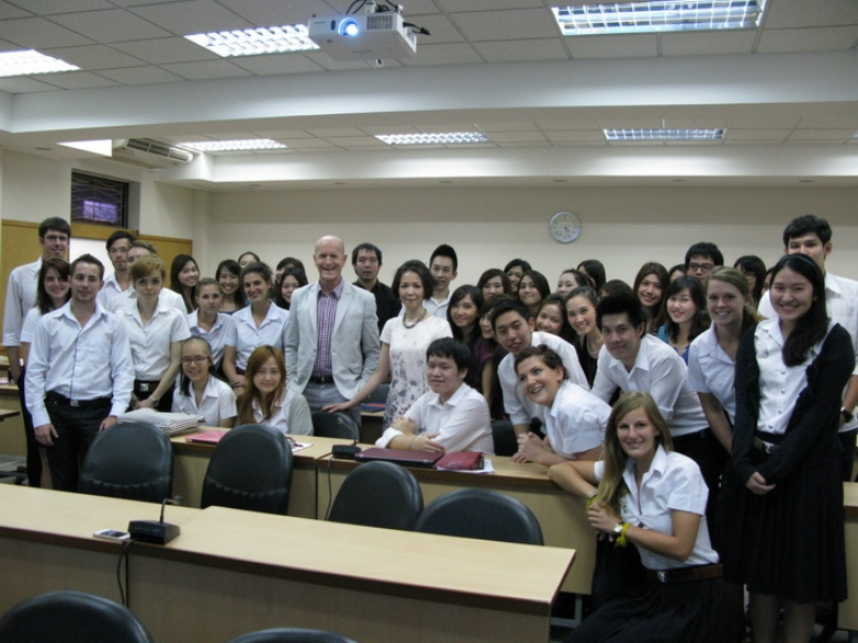"Mr. Louis-Sebastien Ohl was a guest lecturer in ""Marketing Strategy"" class"
