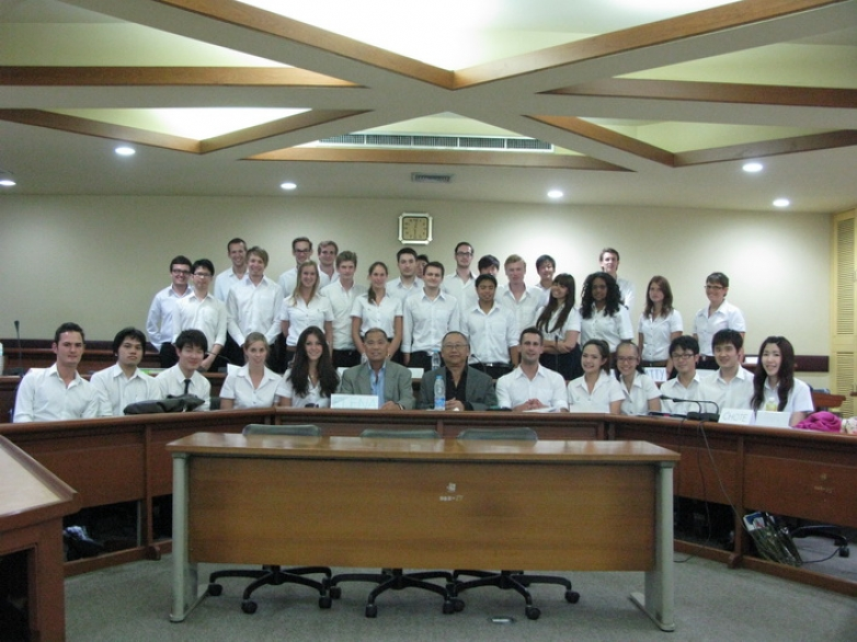"H.E. Chan Heng Wing was a guest lecturer in ""Current Issues in Finance"" class"