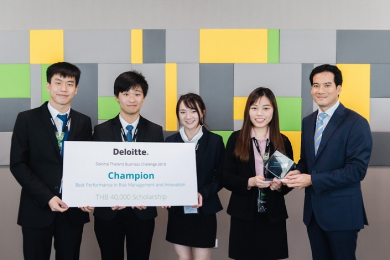 BBA Chula won Champion Best Performance Risk Management and Innovation at Deloitte Thailand Business Challenge 2019 (Tax & Risk Case Competition)