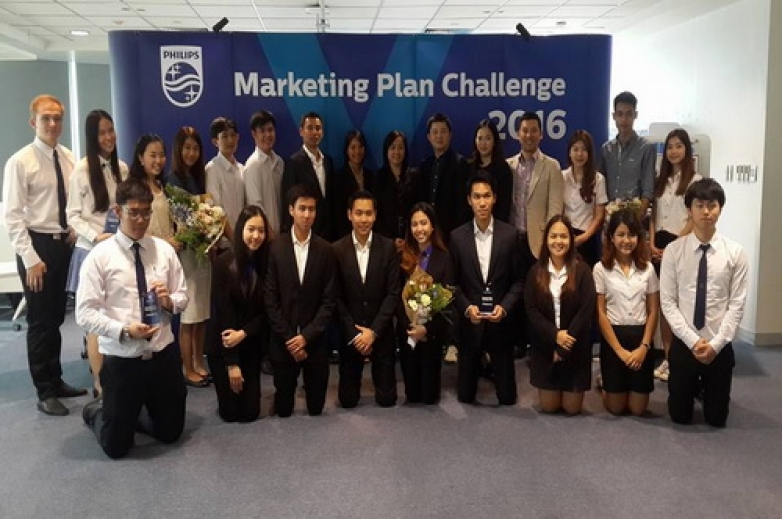 BBA Chula wins first place and second runner-up at Philips Marketing Case Competition 2016