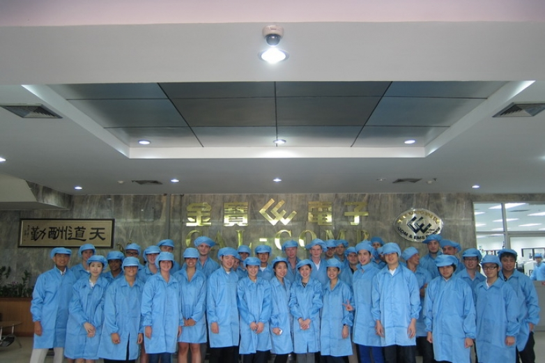 """Current Issue in Finance"" Class' Field Trip at the factory facilities of Cal-Comp Electronics (Thailand) Public Co., Ltd. (CCT)"
